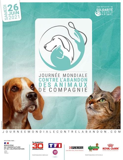 Journée mondiale contre l'abandon des animaux de compagnie.
