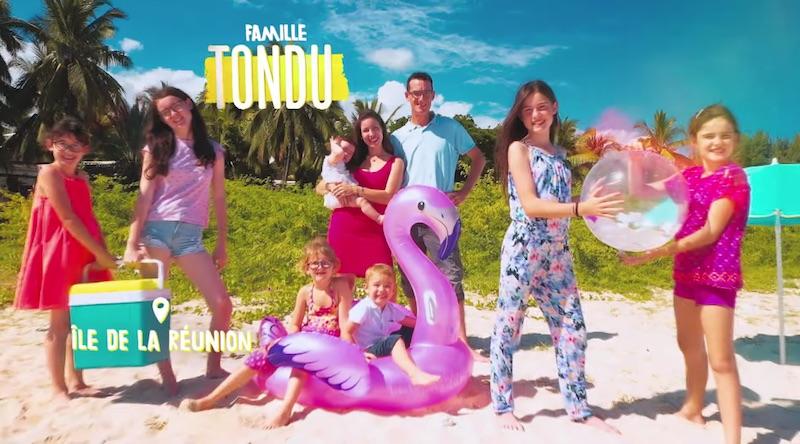 « Familles nombreuses : la vie au soleil » : la famille Tondu.
